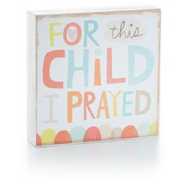 For this Child Wood Block Art, , large