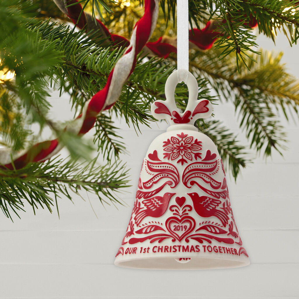 Christmas Bell Images.Our First Christmas Bell 2019 Porcelain Ornament