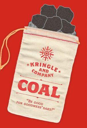 Bag O' Coal Money Holder Christmas Card
