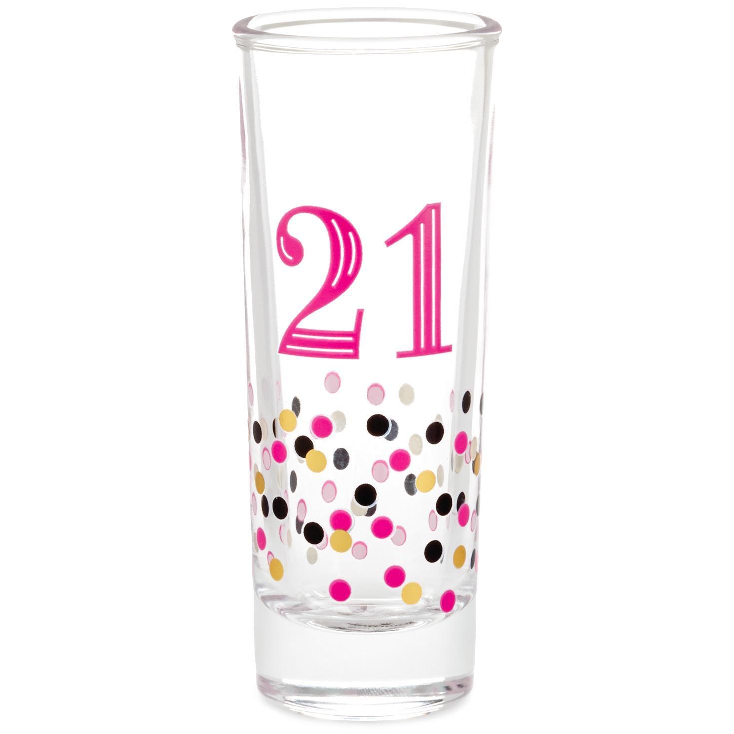 21 Shot Glass 2 Oz