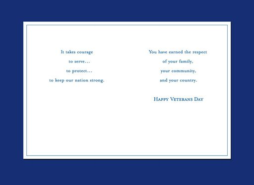 Golden Eagle Veterans Day Card,