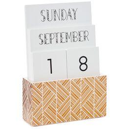 Geometric Desktop Perpetual Calendar, , large