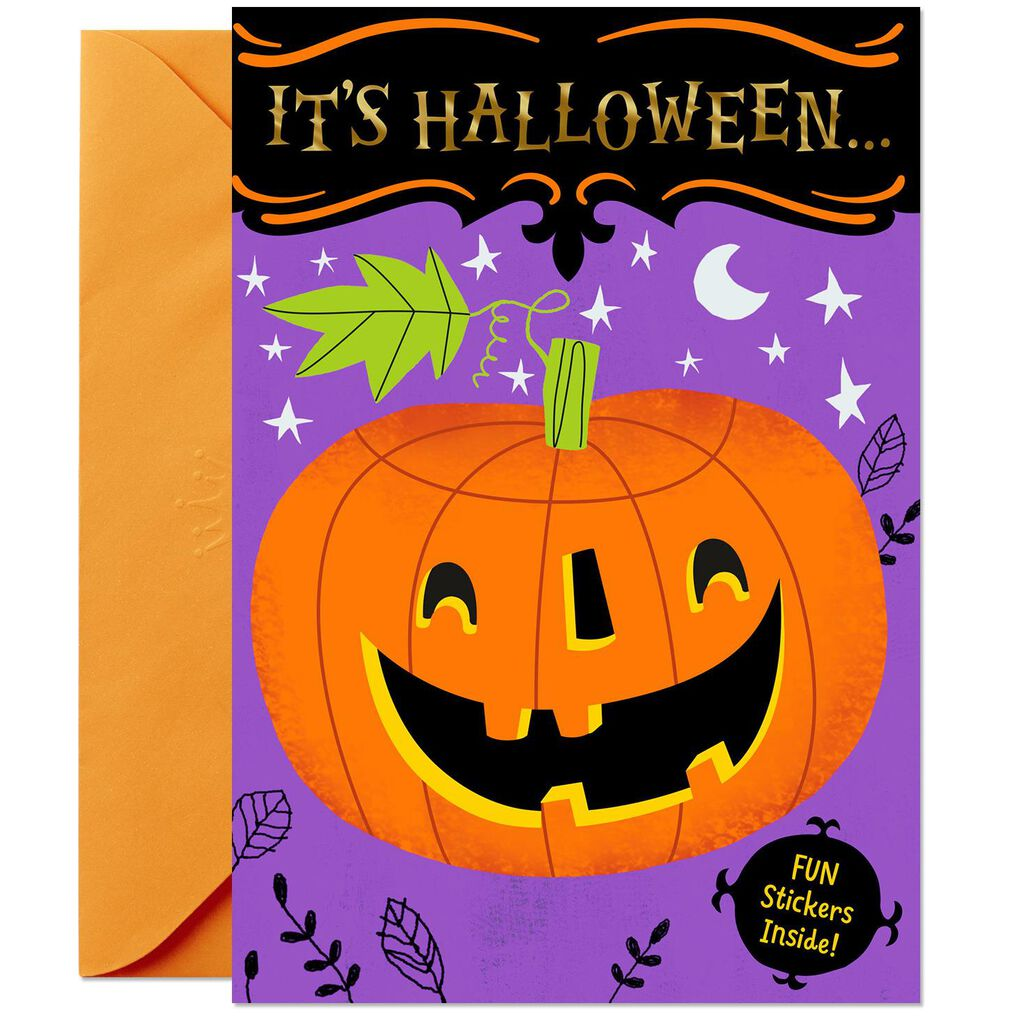 Pumpkin Decorating Activity Card With Stickers