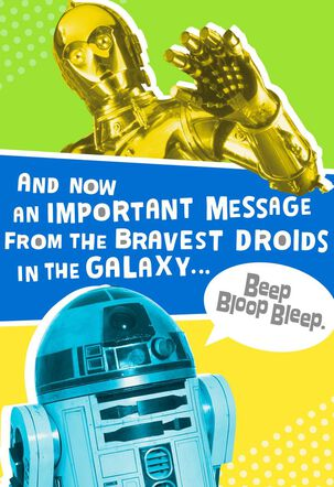 R2-D2™ and C-3PO™ Free to Party Birthday Sound Card