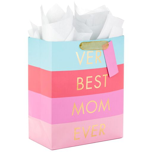 b357d63a869 Very Best Mom Ever Large Gift Bag With Tissue and Tag