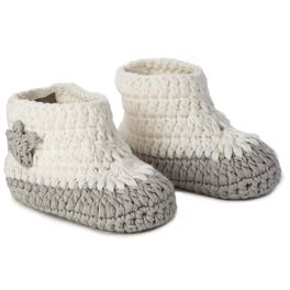 Moon and Stars Knitted Baby Booties, 0-12 Months, , large
