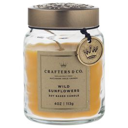 Crafters & Co. Wild Sunflowers Candle, 4-oz, , large