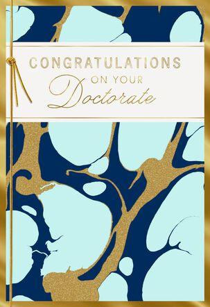 Marble Design Doctorate Graduation Card