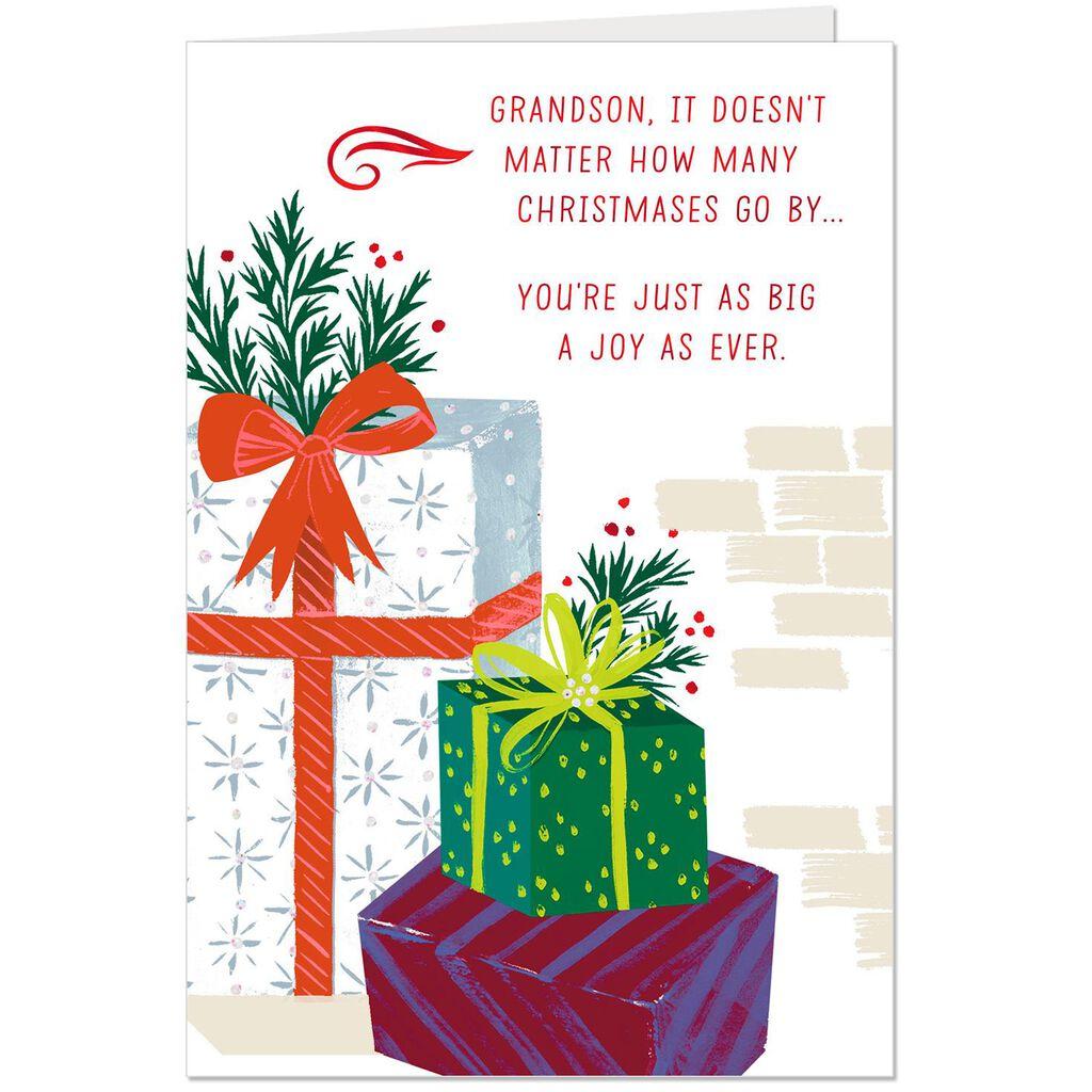 You\'re a Joy Christmas Card for Grandson - Greeting Cards - Hallmark
