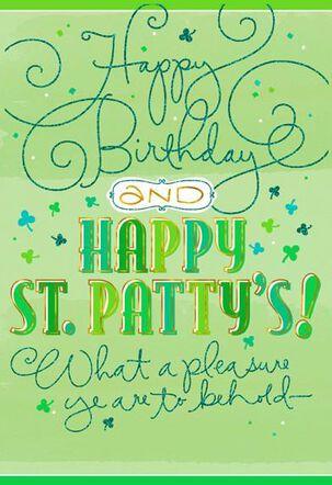 St. Patty Birthday St. Patrick's Day Card