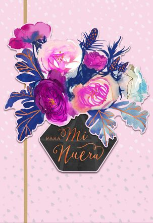 Celebrating You Spanish-Language Mother's Day Card for Daughter-in-Law