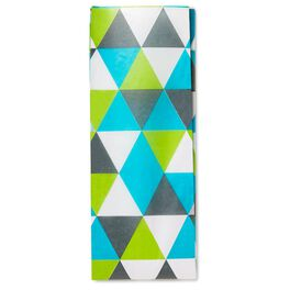 Chartreuse Triangles Tissue Paper, , large