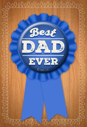 Best Dad Badge Fits Father's Day Card