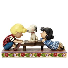 Jim Shore Happiness Is a Favorite Song—Schroeder with Lucy and Snoopy Figurine, , large