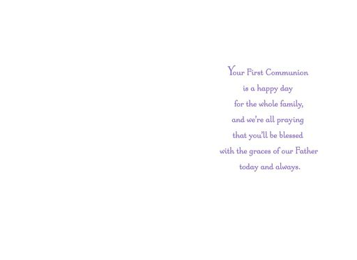 Blessed Niece First Communion Card,