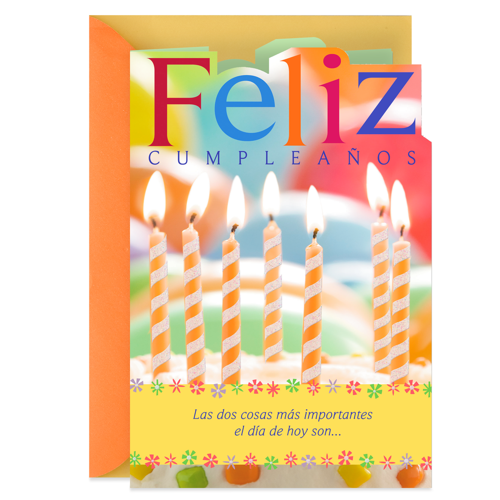 Abundant Blessings Spanish Language Birthday Card