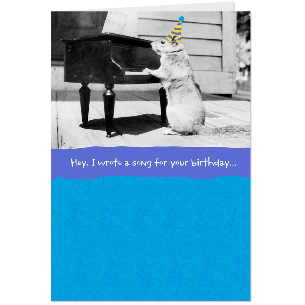 I Wrote You A Song Funny Birthday Card