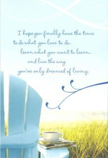 Exciting New Chapter Retirement Card,