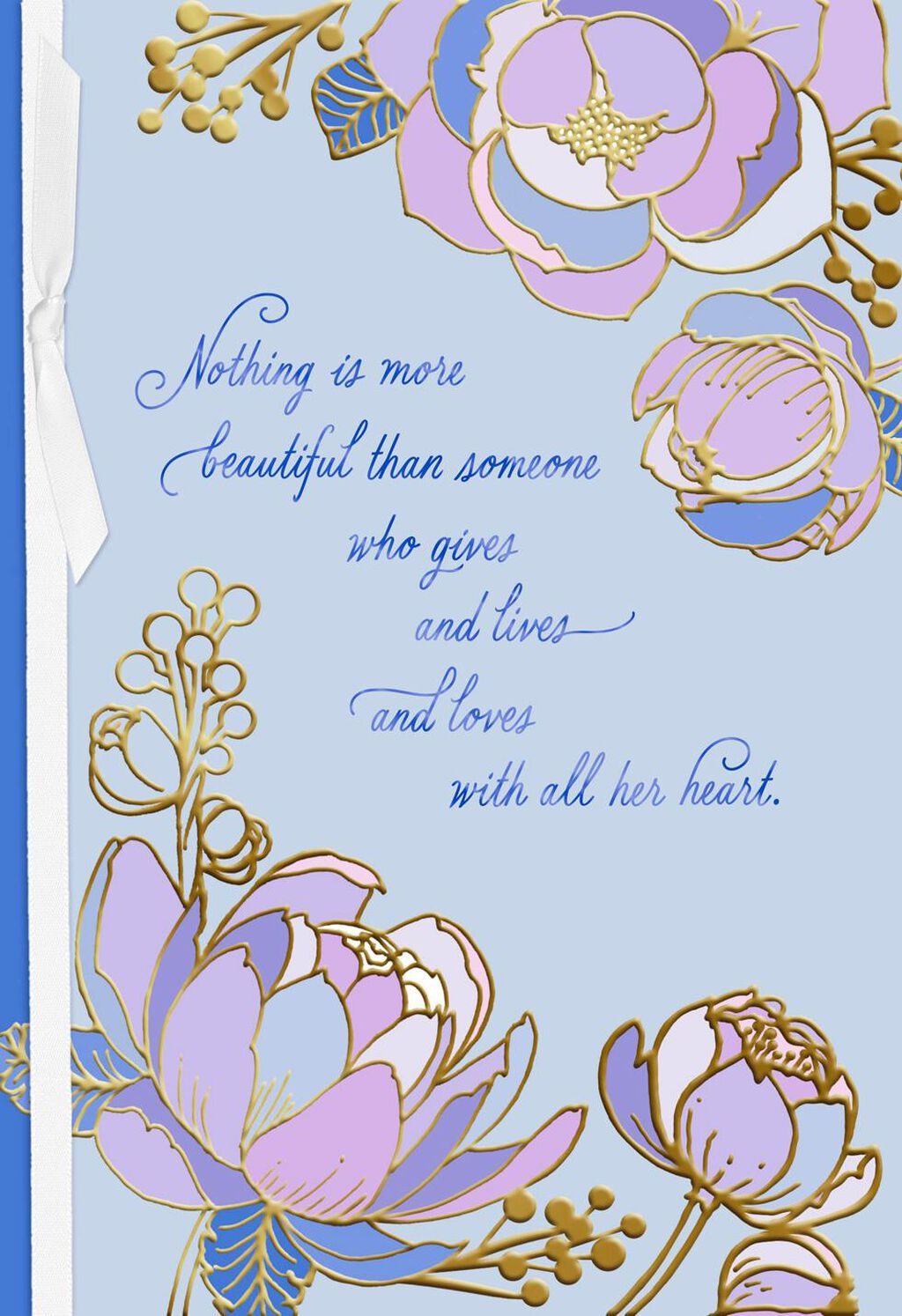 A beautiful woman lavender flowers birthday card greeting cards a beautiful woman lavender flowers birthday card greeting cards hallmark izmirmasajfo