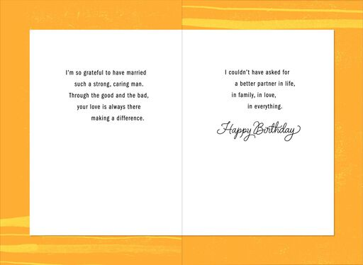 My Partner Love Birthday Card For Husband