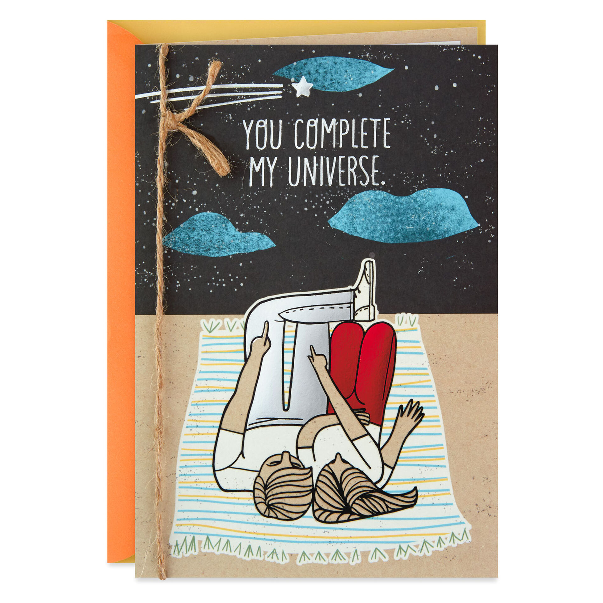 you complete my universe birthday card  greeting cards
