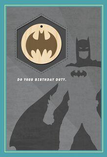 BATMAN™ Legendary Birthday Card With Keychain,