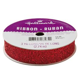 "Red 5/8"" Sparklet Ribbon, , large"