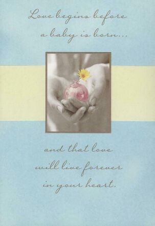 Bud Vase Loss of Baby Sympathy Card