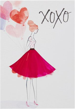 Fashion Sketch Valentine's Day Card for Anyone