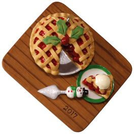 Season's Treatings Cherry Pie Ornament, , large