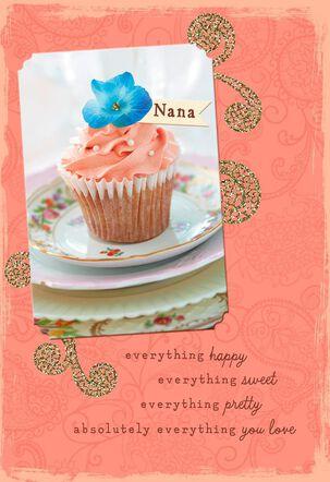 Cupcake Birthday Card for Nana