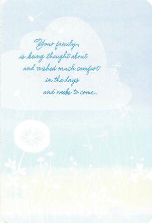 Blue Skies Sympathy Card