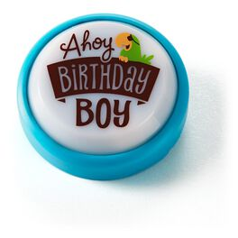 Birthday Boy Mini Sound Button with Light, , large