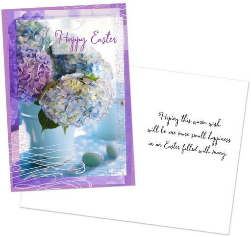 Hydrangeas And Begonias With Glitter Easter Cards Pack Of 6