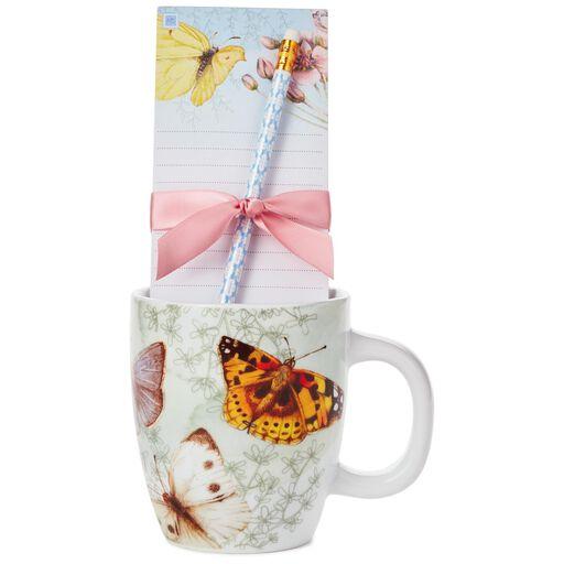 Marjolein Bastin Butterfly Mug and Stationery Gift Set, ...