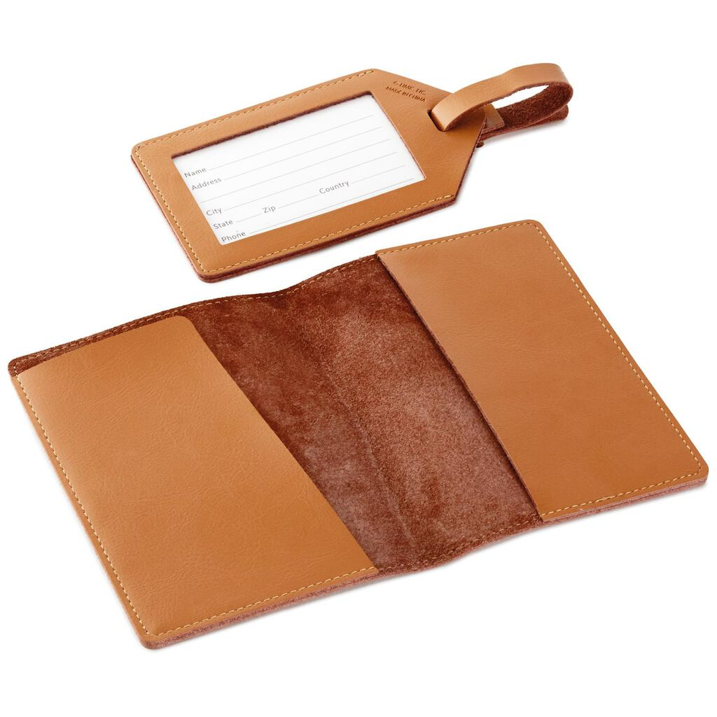 ac7580187049 Adventure Leather Passport Holder and Luggage Tag Set - Travel ...