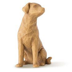 Willow Tree 174 Love My Dog Figurine Blonde Figurines