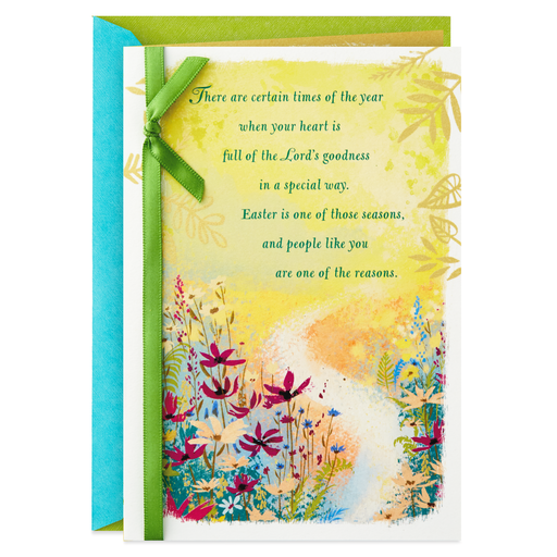 Gods Goodness And Blessings Religious Easter Card