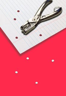 Love You a Hole Punch Funny Valentine's Day Card,