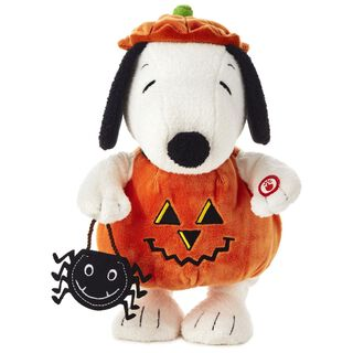 Peanuts® Pumpkin Time Snoopy Stuffed Animal With Sound and Motion,