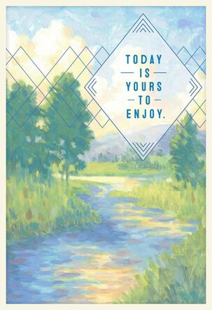 Field With Stream Today Is Your Day Birthday Card
