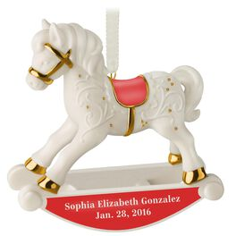 Baby's First Rocking Horse Personalized Ornament, , large