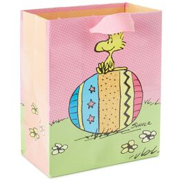 """Peanuts® Woodstock on Easter Egg Small Gift Bag, 6.5"""", , large"""