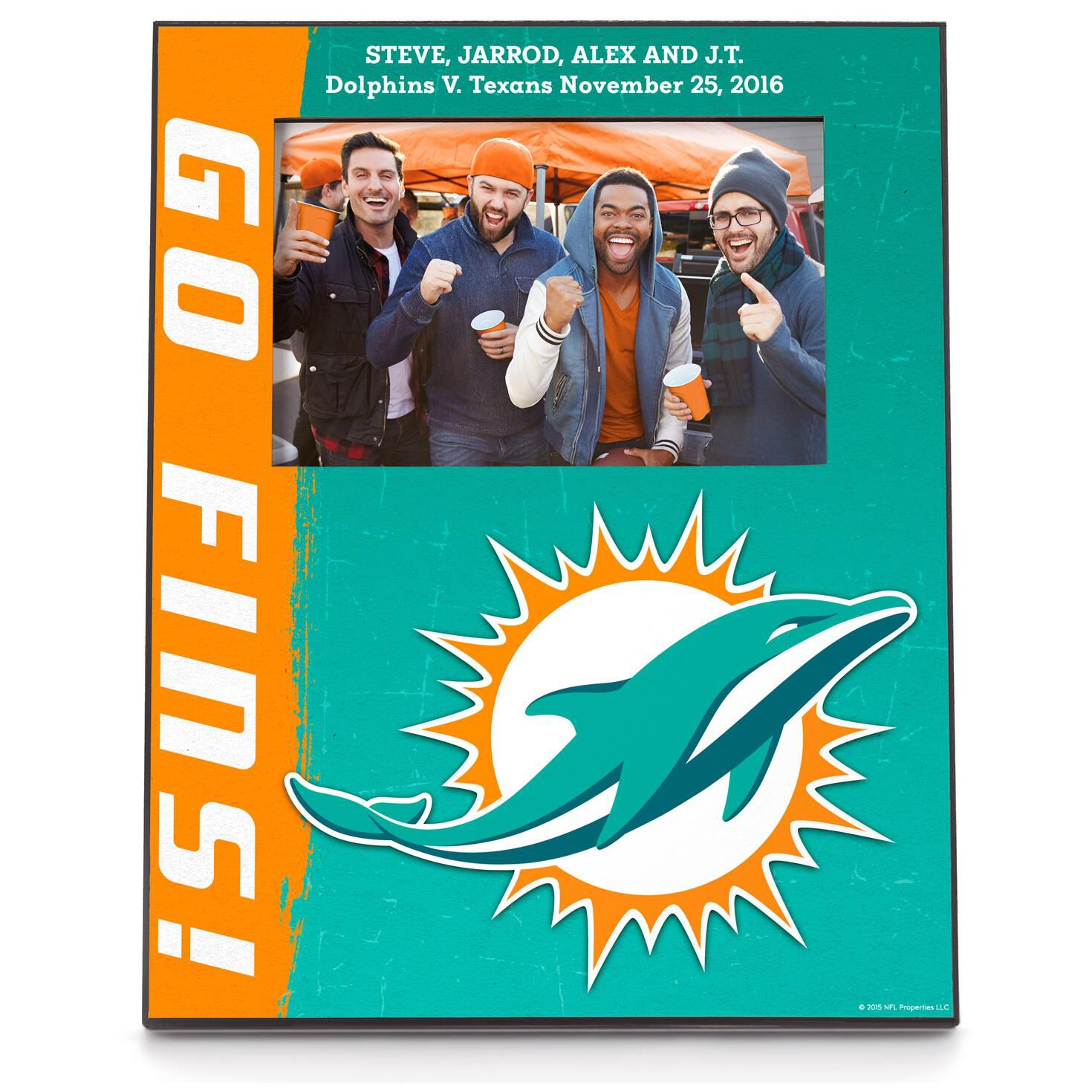 Miami dolphins personalized 4x6 photo frame personalized home miami dolphins personalized 4x6 photo frame personalized home decor hallmark jeuxipadfo Image collections