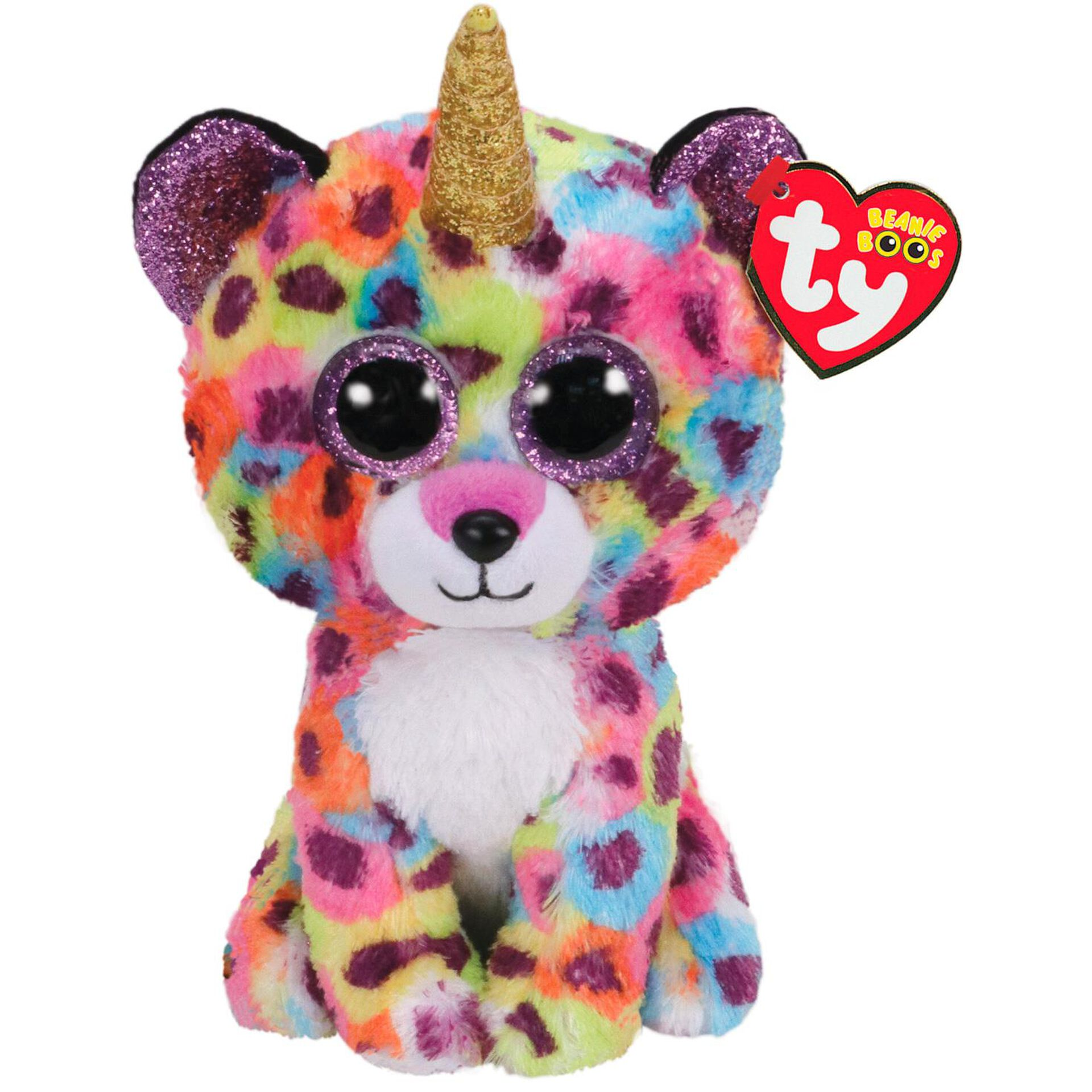 """Yellow Chick in Rainbow Easter Egg 6"""" TY Megg Small Beanie Boo Plush NEW"""