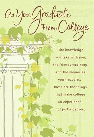 Ivy Column College Graduation Card