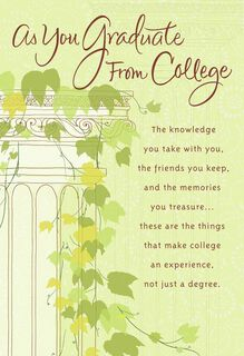 Ivy Column College Graduation Card,