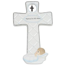 Precious Moments® Baptized in His Name Cross for Boy, , large
