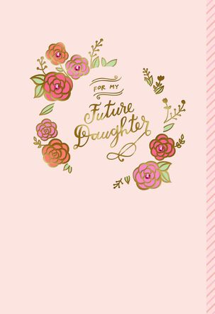 Circle of Flowers Wedding Card for Daughter-in-Law