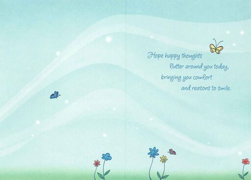Happy Thoughts Thinking of You Card,